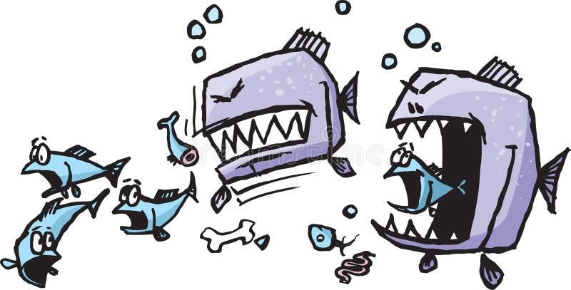 Unersättliche Fische lizenzfreie abbildung