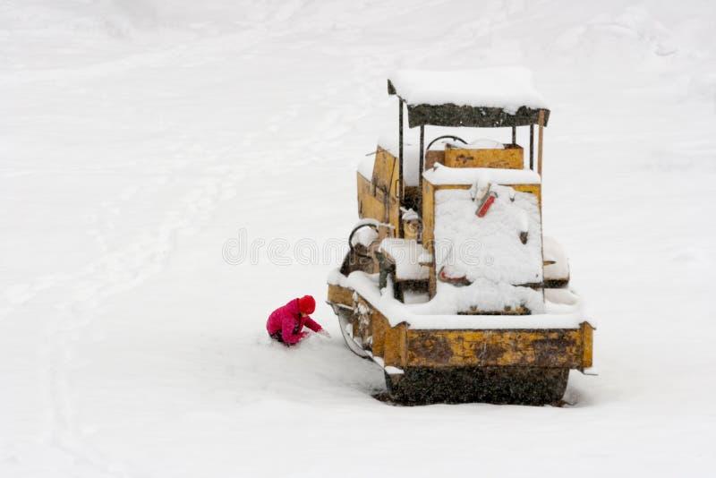 Unerwarteter Schnee stockfotografie