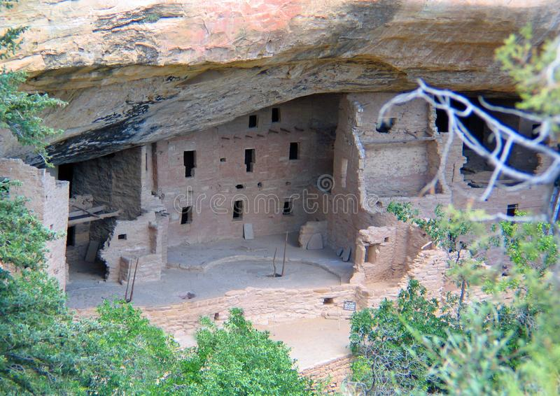 Unesco Cliff Dwellings di Mesa Verde fotografia stock