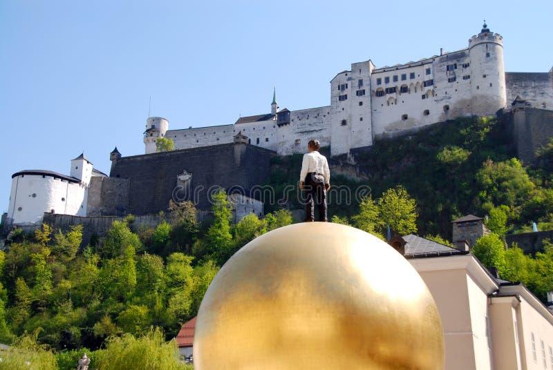 Unesco-de plaats Salzburg van de werelderfenis royalty-vrije stock foto's