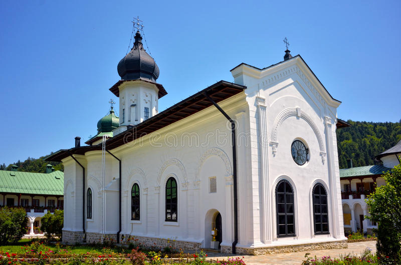 UNESCO-Erbe - Agapia-Kloster in Rumänien lizenzfreie stockfotografie