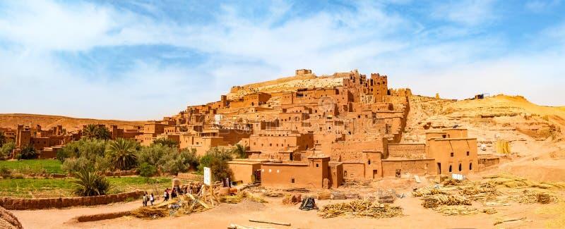 Unesco-erfenis Ait Ben Haddou kasbah in Marokko royalty-vrije stock foto's