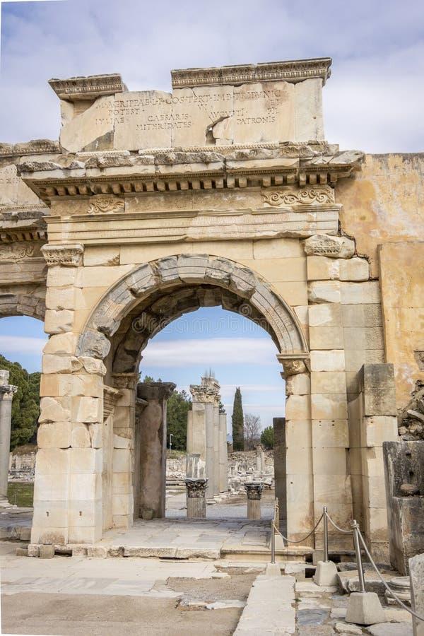 Unesco-Erfenisplaats van de Oude Stad van Ephesus, Selcuk, Tur stock afbeeldingen