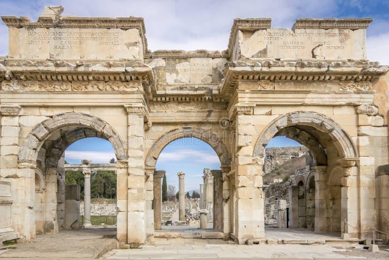 Unesco-Erfenisplaats van de Oude Stad van Ephesus, Selcuk, Tur stock afbeelding