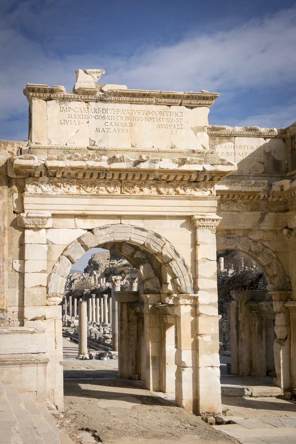 Unesco-Erfenisplaats van de Oude Stad van Ephesus, Selcuk, Tur stock foto's