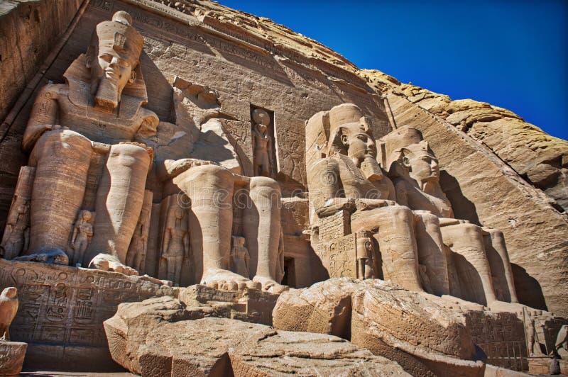 UNESCO famoso Abu Simbel de Ramses II imagens de stock royalty free