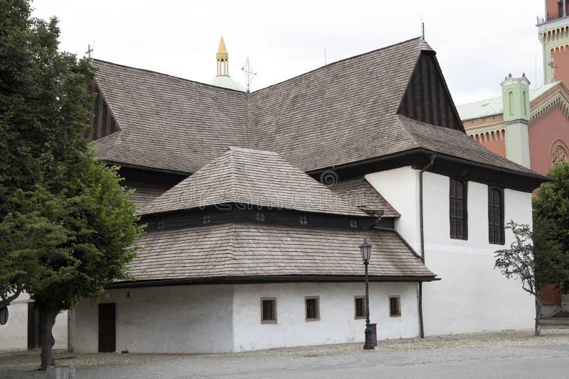 UNESCO monument - Kezmarok - Church of the Holy Trinity, Slovakia royalty free stock images