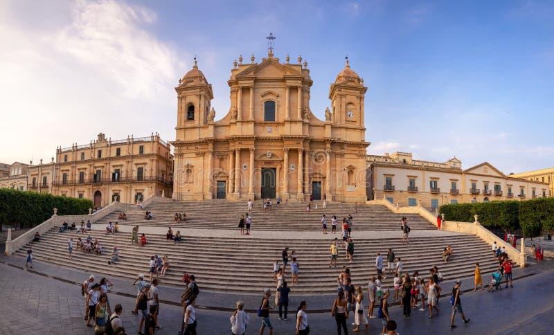 Unesco sicilian barokowa katedra Noto fotografia royalty free