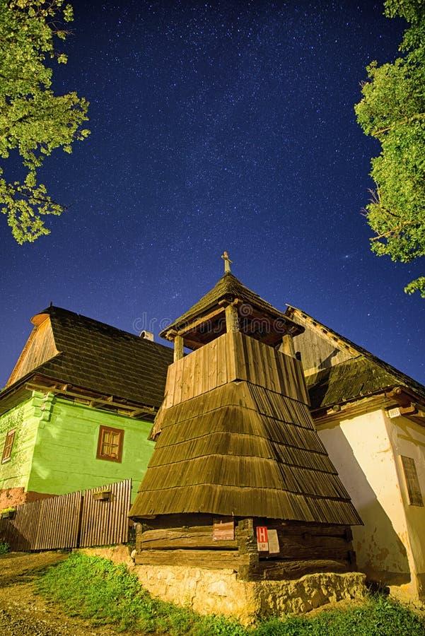 UNESCO village Vlkolinec, Slovakia stock image
