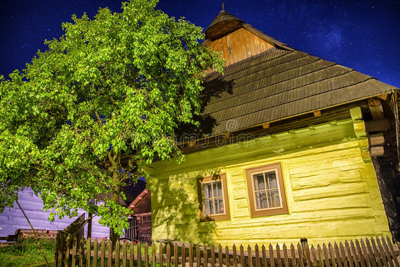 UNESCO village Vlkolinec, Slovakia royalty free stock photos