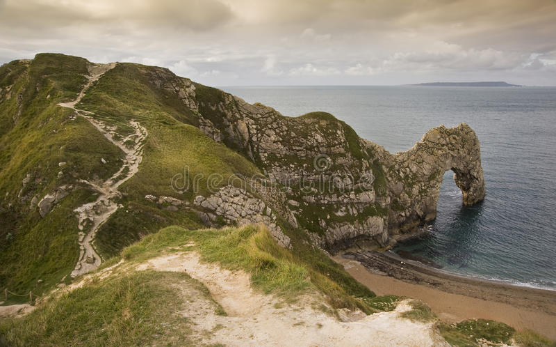 UNESCO-Welterbe-Site-Juraküste England lizenzfreie stockfotos
