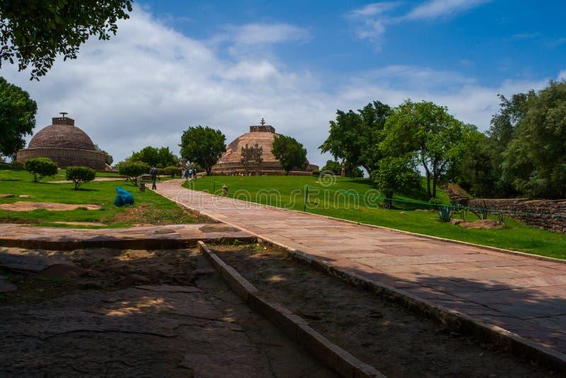UNESCO-Welterbestätte Sanchi Stupas in Madhya Pradesh Indien nahe Bhopal stockbild