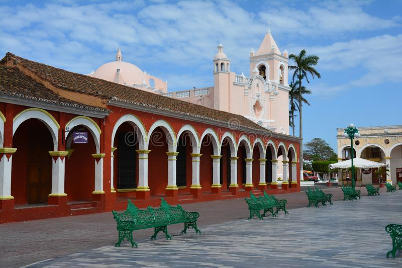 UNESCO wioska Tlacotalpan Veracruz w Meksyk obrazy royalty free