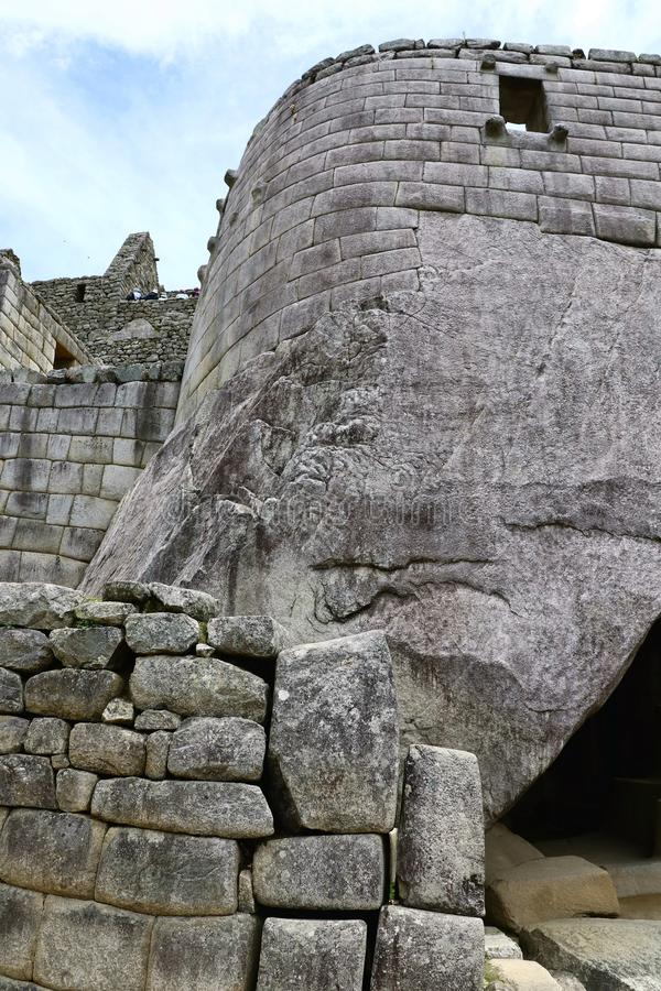 Machu Picchu Peru Details. UNESCO World Heritage Site in Latin America and the Caribbean. Machu Picchu is a 15th-century Inca citadel situated on a mountain stock photos