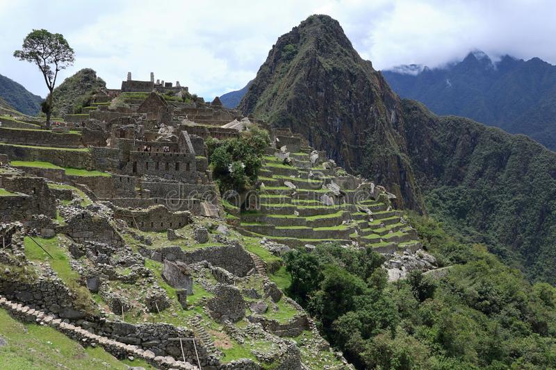 Machu Picchu Peru View stock photography