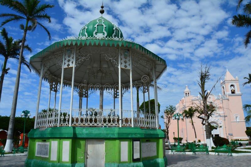 UNESCOby av Tlacotalpan Veracruz i Mexico royaltyfria foton