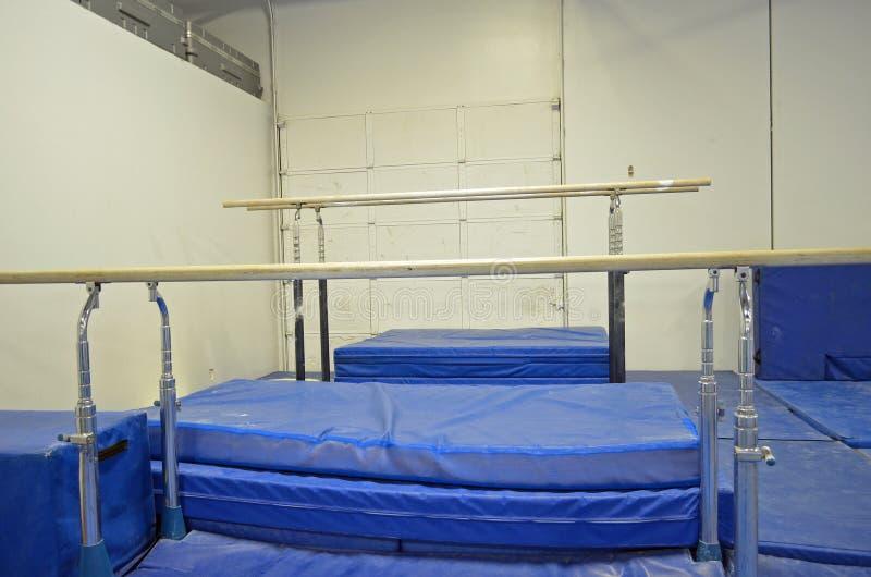 Uneven bars. (or asymmetric bars), an artistic gymnastics apparatus stock images