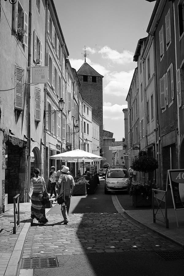 Uneventfullness auf Straßen von Cluny lizenzfreie stockfotografie