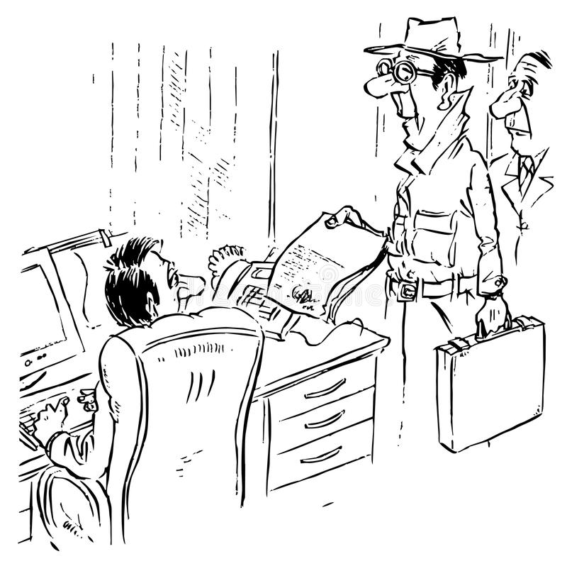 Download Unexpected inspection stock illustration. Image of inspectorate - 12251557