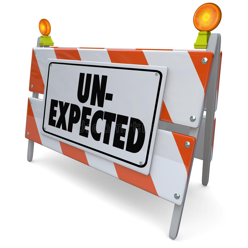Unexpected Surprising Development Shocking Road Barrier royalty free illustration