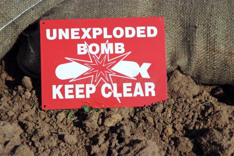 unexploded royaltyfria bilder