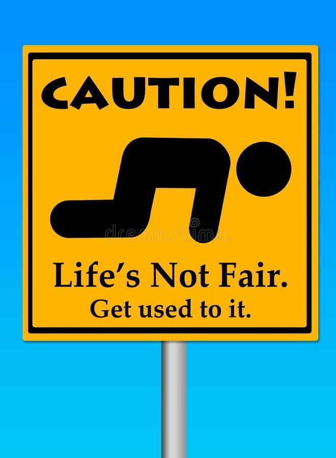 Unfaires Leben stock abbildung