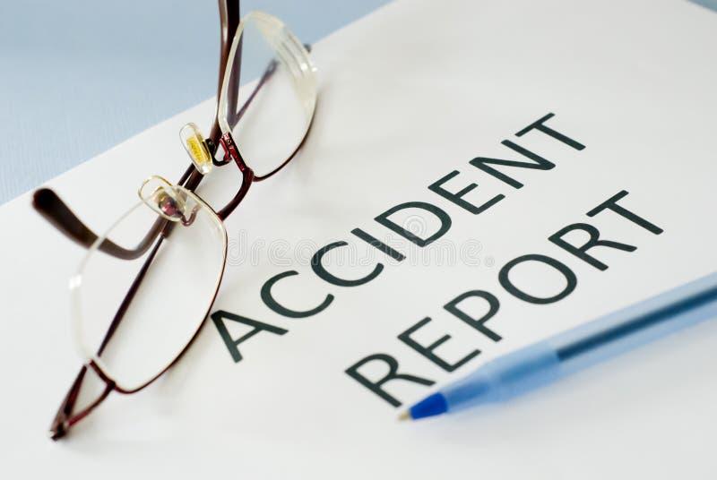 Unfallbericht lizenzfreie stockfotos