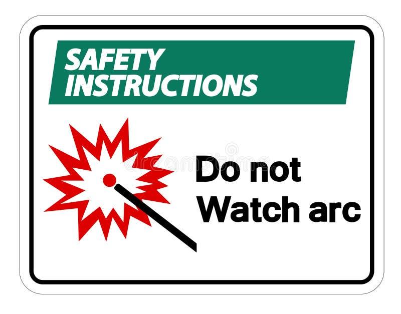 Unfallverhütungsvorschriften passen nicht auf, einen Bogen zu bilden Symbol-Zeichen-Isolat auf weißem Hintergrund, Vektor-Illustr vektor abbildung