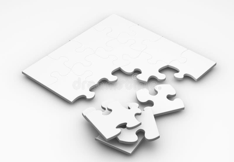 Unfertiges Puzzlespiel stock abbildung