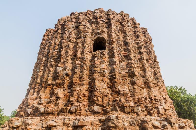 Unfinished Alai Minar minaret in Qutub complex in Delhi, Indi. A royalty free stock photos