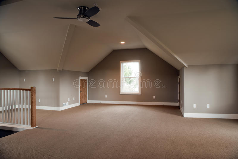 Download Unfinished Attic stock image. Image of floor, ceiling - 12991979