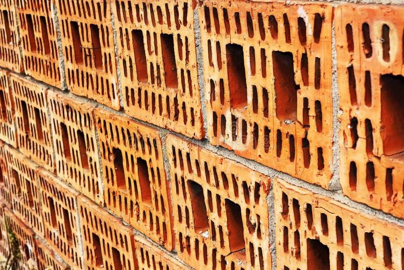 Unfinished brick wall royalty free stock photo