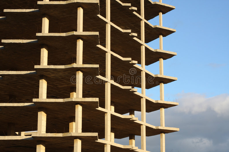 Download Unfinished Building stock photo. Image of spain, concrete - 7433332