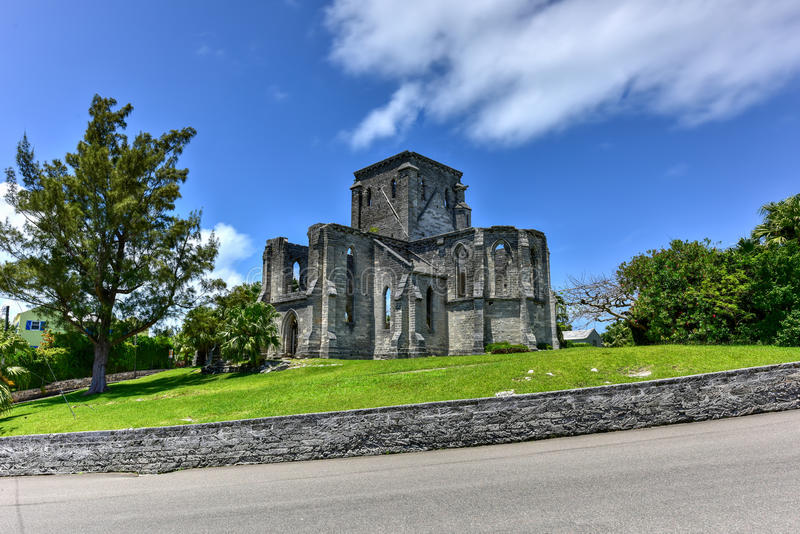 Unfinished Church - Bermuda royalty free stock images