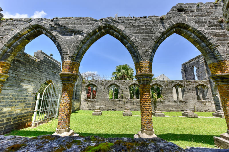 Unfinished Church - Bermuda royalty free stock photos