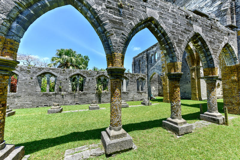 Unfinished Church - Bermuda royalty free stock photography