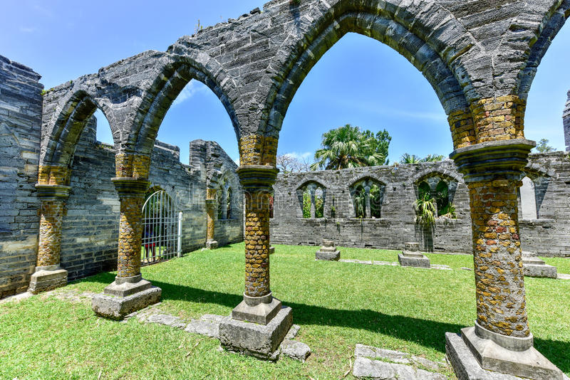 Unfinished Church - Bermuda. Unfinished Church. It's ruins are a protected historic monument and part of the St. George's World Heritage Site royalty free stock images