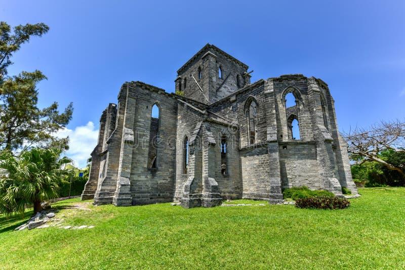Unfinished Church - Bermuda stock photos