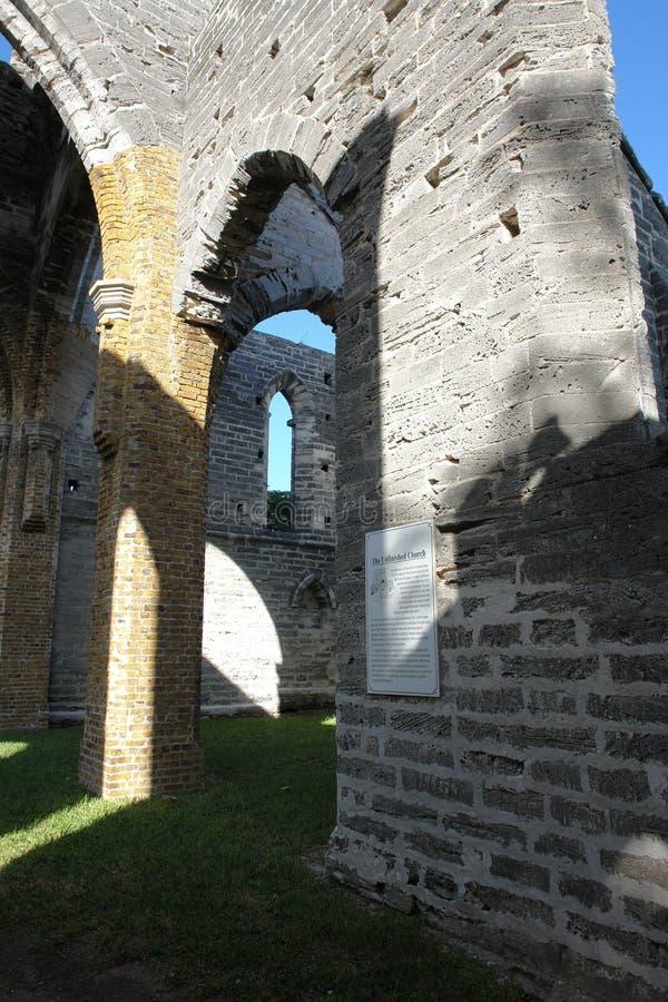 Unfinished Church, Bermuda royalty free stock photo