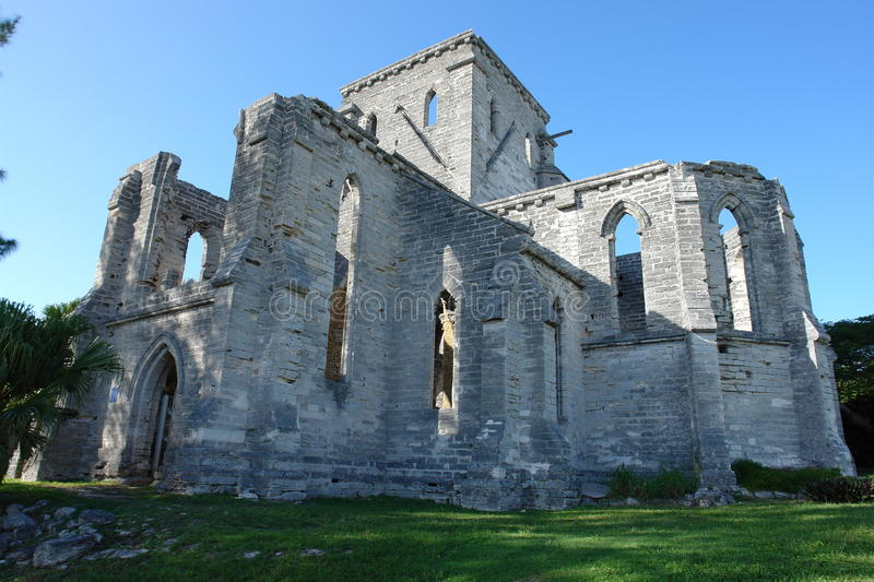 Unfinished Church, Bermuda. Unfinished Church in St. George, Bermuda royalty free stock image