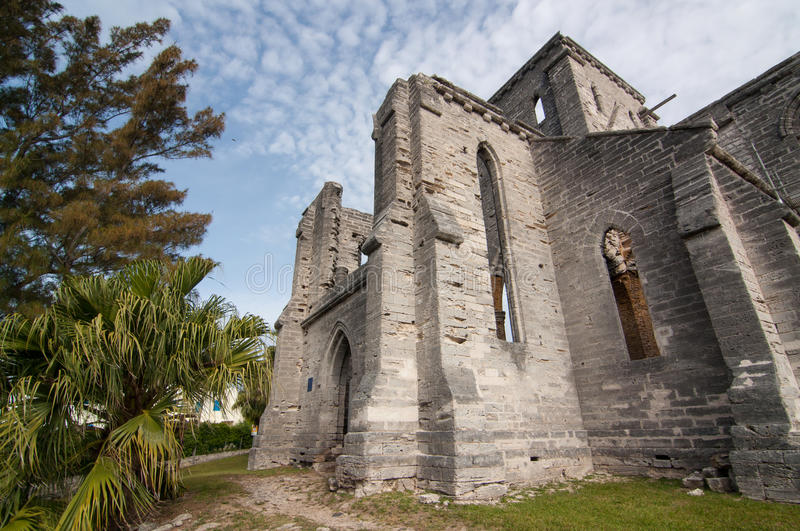 Unfinished Church stock photo