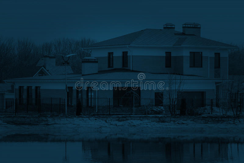 Unfinished european house of brick, still under construction. royalty free stock photography
