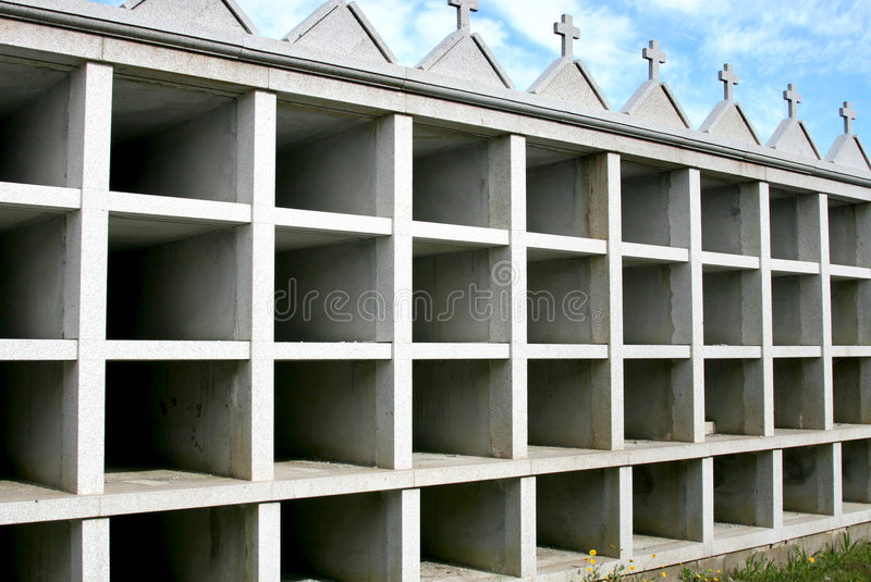 Unfinished Graves At A Spanish Cemetery Royalty Free Stock Photos