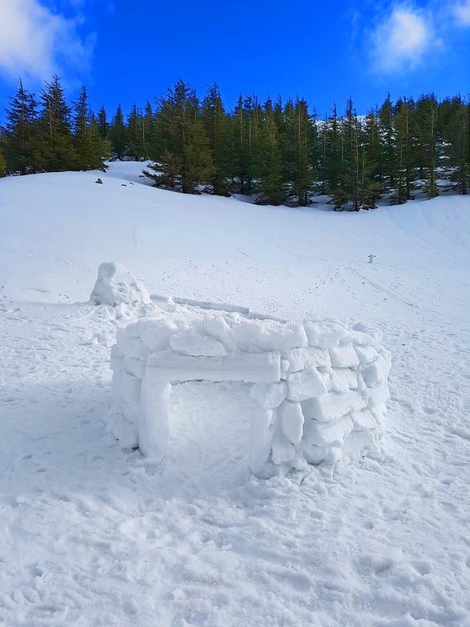 Unfinished igloo stock image