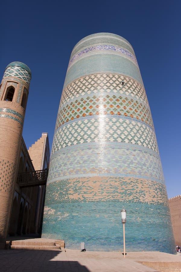 Unfinished Kalta Minor Minaret minaret Muhammad Amin Khan 19th century. Khiva, Uzbekistan.  royalty free stock image