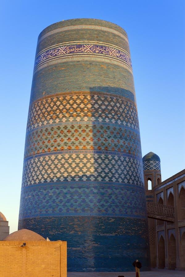 Unfinished Kalta Minor Minaret minaret Muhammad Amin Khan 19th century. Khiva, Uzbekistan.  stock image