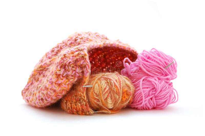 Unfinished Knitted Cap Stock Images