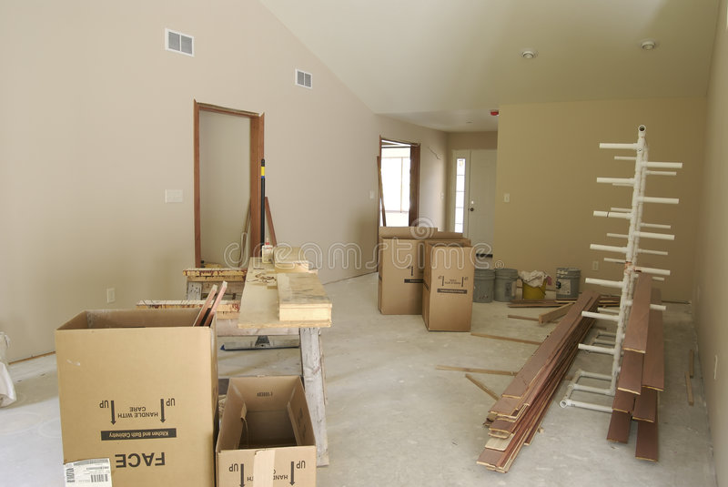 Unfinished Living Room royalty free stock photography