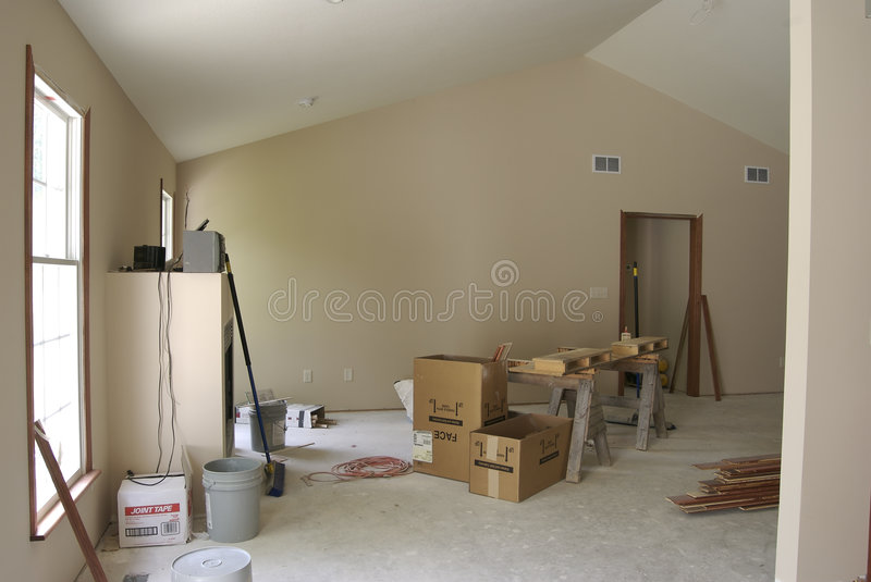 Unfinished Living Room royalty free stock image