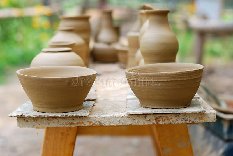 Download Unfinished Pottery Products. Stock Photo - Image: 25637326